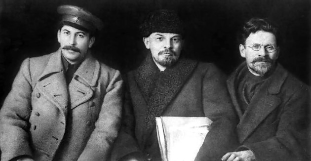 Lenin, Stalin, si Trotsky